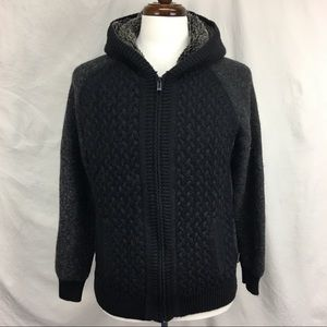 Calvin Klein Faux Fur Hooded Pullover Sweater